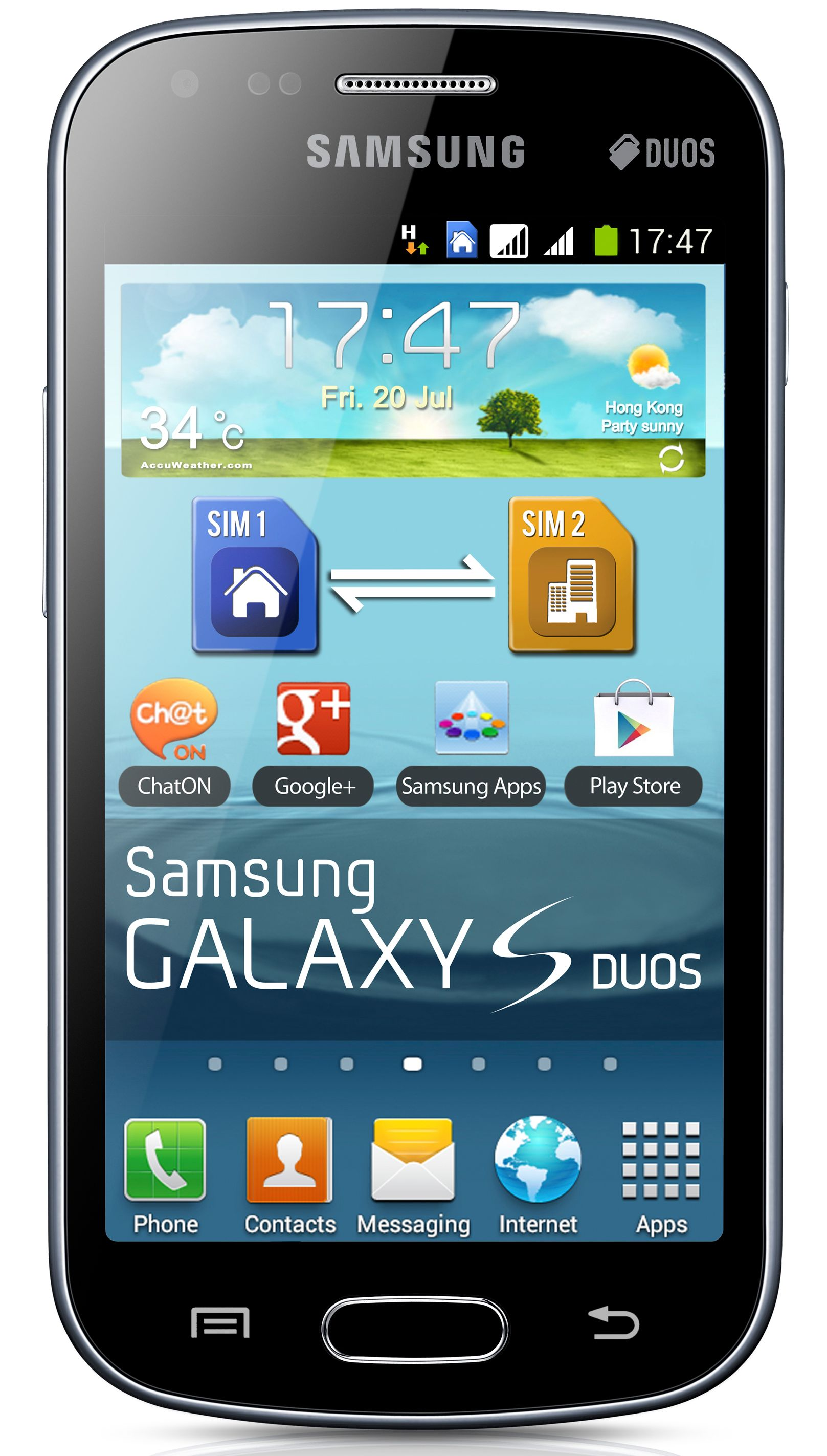 Samsung Galaxy S Duos S7562 GSM Unlocked Dual Sim Android Cell Phone - Black