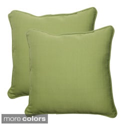 Pillow Perfect Outdoor Forsyth Corded 18.5-inch Square Throw Pillow (Set of 2)