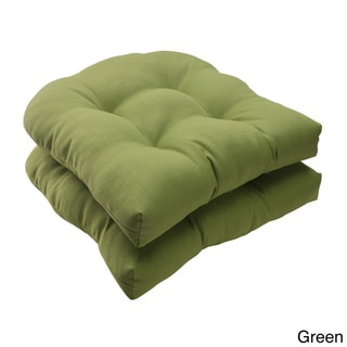 Pillow Perfect Outdoor Forsyth Wicker Seat Cushion (Set of 2)