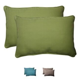 Pillow Perfect Outdoor Forsyth Oversized Corded Rectangular Throw Pillow (Set of 2)