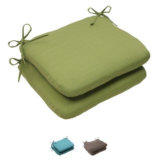 Pillow Perfect Outdoor Forsyth Rounded Seat Cushion (Set of 2)