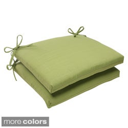 Pillow Perfect Outdoor Forsyth Squared Seat Cushion (Set of 2)