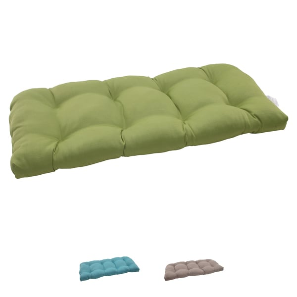 Pillow Perfect Outdoor Forsyth Wicker Loveseat Cushion