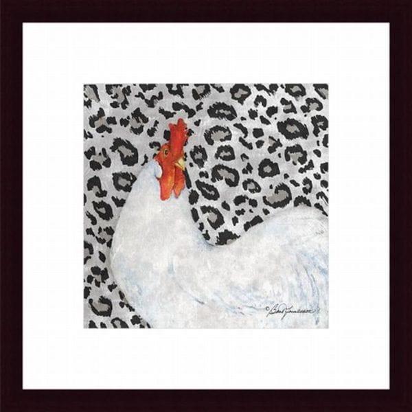 Leopard Rooster Framed Print