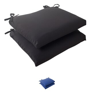 Pillow Perfect Outdoor Fresco Squared Seat Cushion (Set of 2)