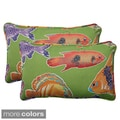 Pillow Perfect Outdoor Kiley Corded Rectangular Throw Pillow (Set of 2)