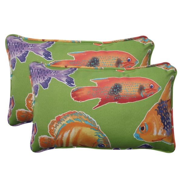 Pillow Perfect Outdoor Kiley Corded Rectangular Throw Pillow (Set of 2)