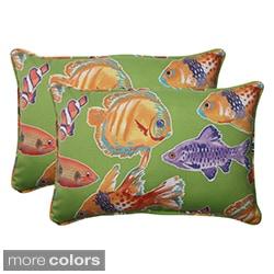 Pillow Perfect Outdoor Kiley Oversized Corded Rectangular Throw Pillow (Set of 2)