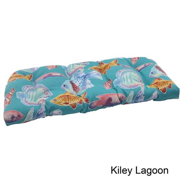 Pillow Perfect Outdoor Kiley Wicker Loveseat Cushion
