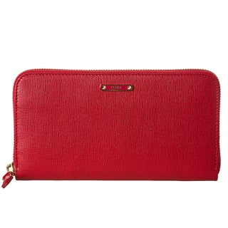 Fendi 'Crayons' Red Leather Zip-around Wallet