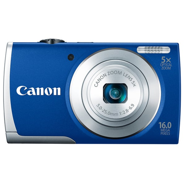 Canon PowerShot A2600 16MP Blue Digital Camera