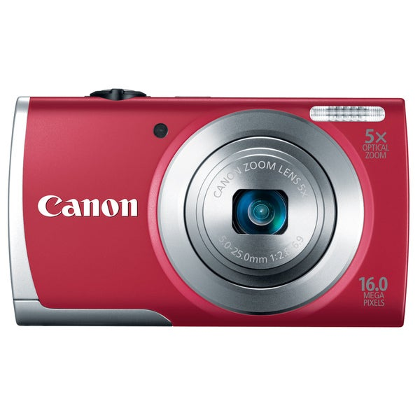 Canon PowerShot A2500 16MP Red Digital Camera
