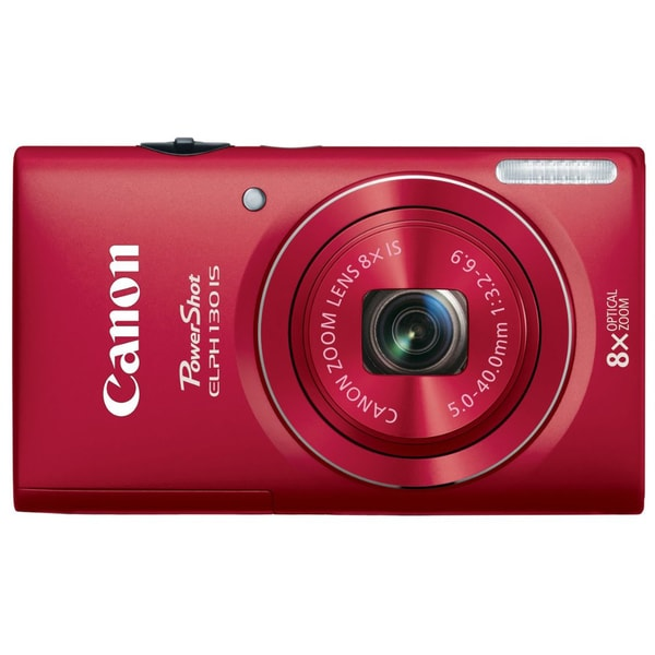 Canon PowerShot ELPH 130IS 16MP Red Digital Camera