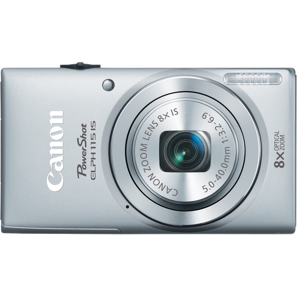 Canon PowerShot 115IS 16MP Silver Digital Camera