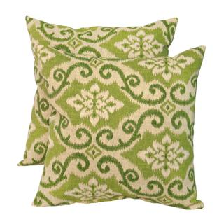 Green Ikat Outdoor Accent Pillows (Set of 2)
