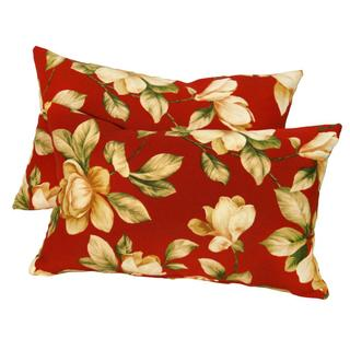 19x12-inch Rectangular Outdoor Roma Floral Accent Pillows (Set of 2)