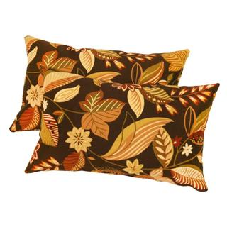 19x12-inch Rectangular Outdoor Timberland Floral Accent Pillows (Set of 2)