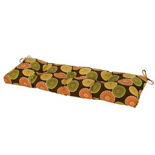 51-inch Outdoor Flowers on Chocolate Bench Cushion