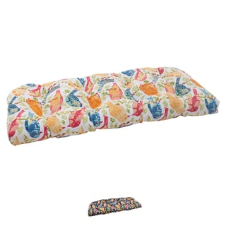 Pillow Perfect Outdoor Ash Hill Wicker Loveseat Cushion