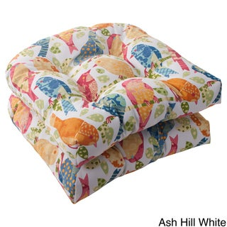 Pillow Perfect Outdoor Ash Hill Wicker Seat Cushions (Set of 2)
