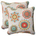 Pillow Perfect Outdoor Fairington Aqua18.5-inch Throw Pillows (Set of 2)