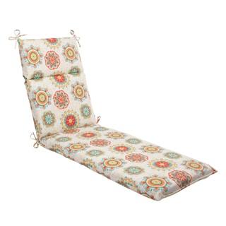 Pillow Perfect Outdoor Fairington Aqua Chaise Lounge Cushion