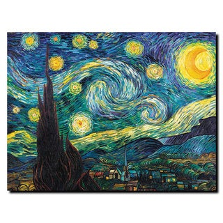 Vincent van Gogh 'Starry Night' Canvas Art