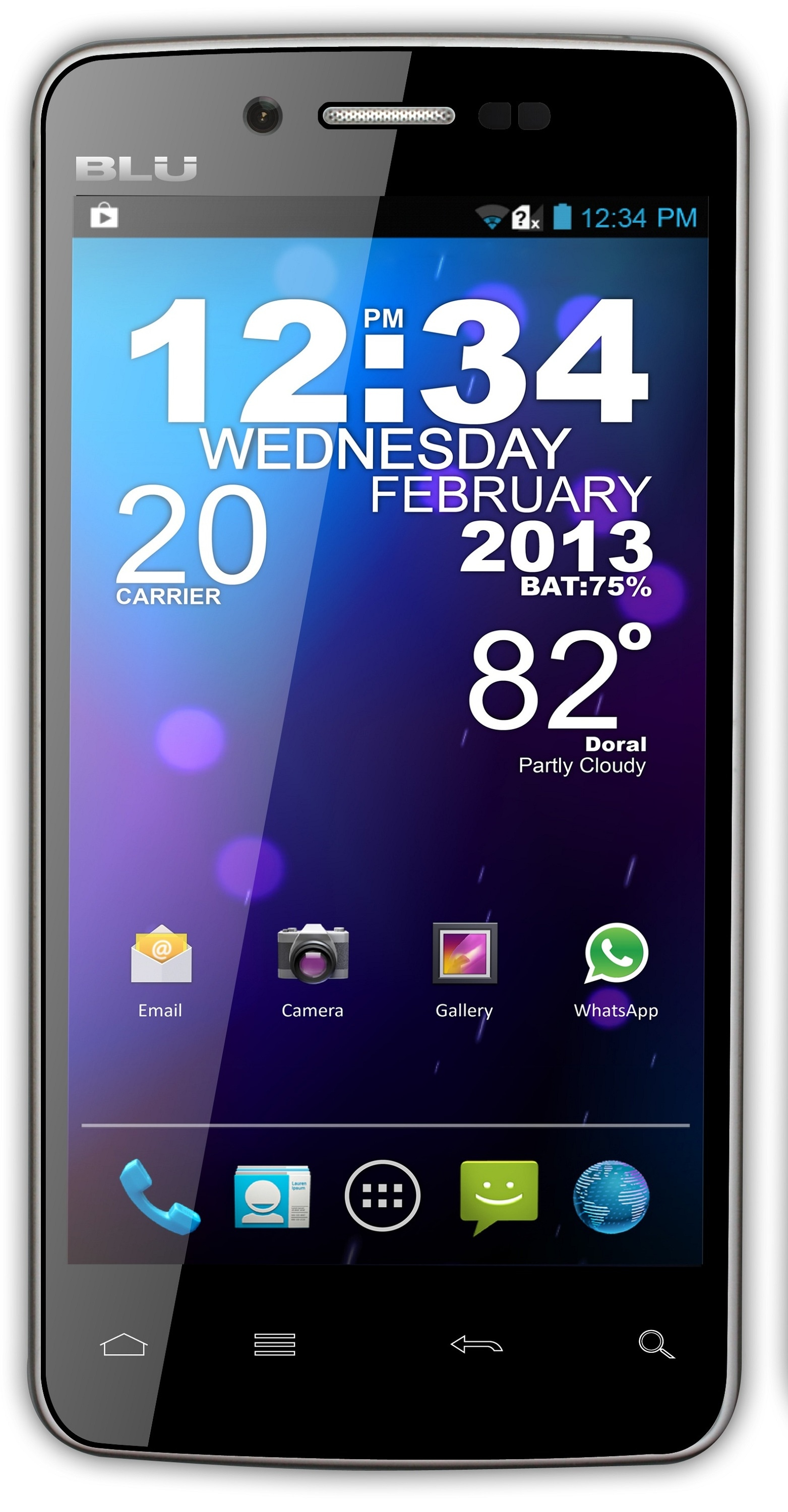 BLU Quattro 4.5 HD D450 GSM Unlocked Android Cell Phone