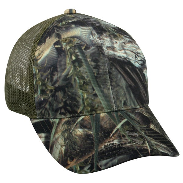 Fishouflage Camo Bass Mesh Back Adjustable Hat