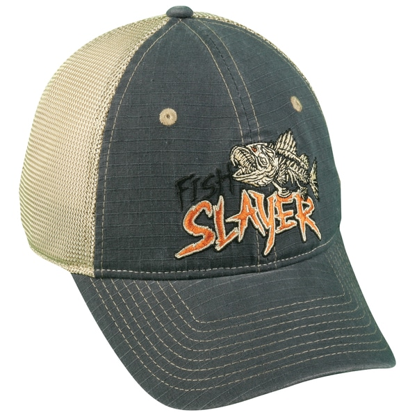 Fish Slayer Mesh Back Adjustable Fishing Hat
