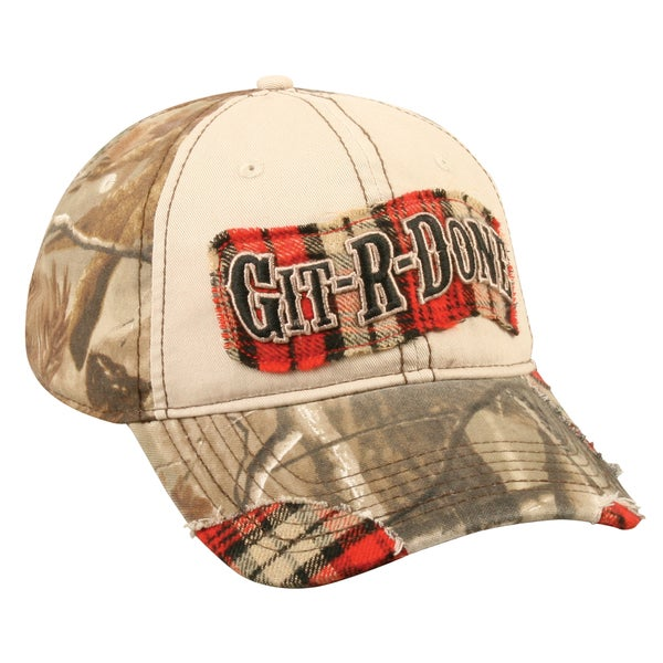 Larry the Cable Guy Plaid Visor Adjustable Hat