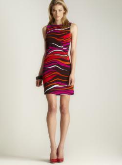 Premise Printed Boatneck Dress