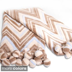 Sweet Dreams Fleece Zig Zag 50 x 60-inch Throw