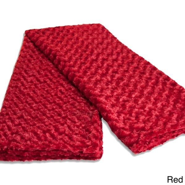 Grand Bazaar Plush Fleece Metropolitan Throw in Red