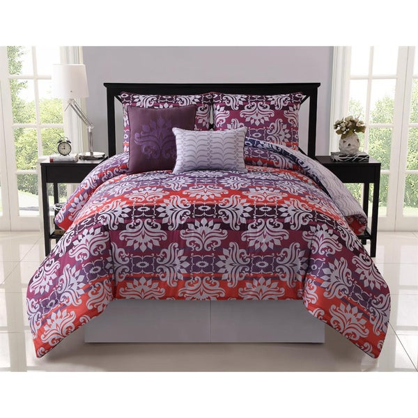 VCNY Addison Reversible 5-piece Comforter Set