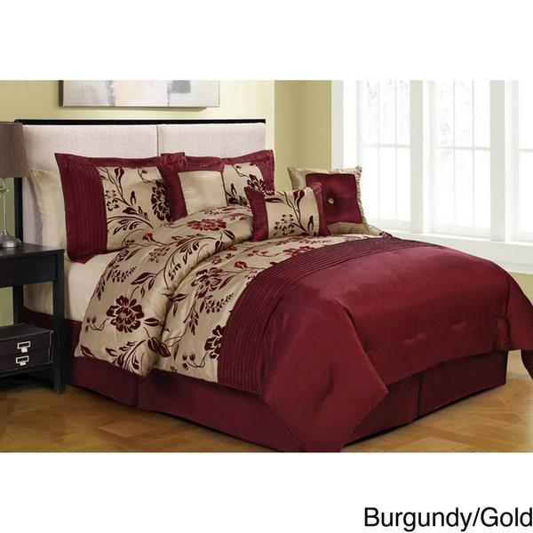Aurora-pieced with Embroidery 8-piece Comforter Set