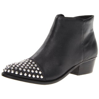 Steve Madden Women's 'Praque' Leather Studded Ankle Boots