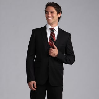 English Laundry Men's Slim Fit Black 2-Button Sportcoat