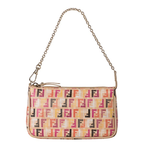 Fendi Forever-Techno Multicolor Pouchette Bag