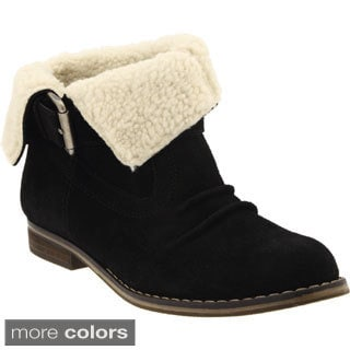 MIA Women's 'Tracey' Suede Fold-over Ankle Boots