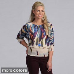 Madison Paige Women's Watercolor Print Blouse