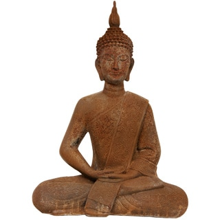 11-Inch Thai Sitting Zenjo-in Iron Look Buddha Statue (China)