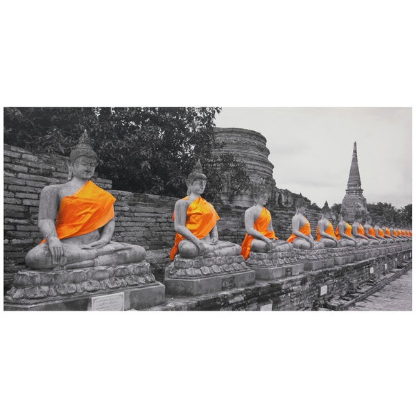 Golden Buddhas Canvas Wall Art