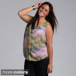 Madison Paige Women's Plus Size Abstract Sleeveless Blouse