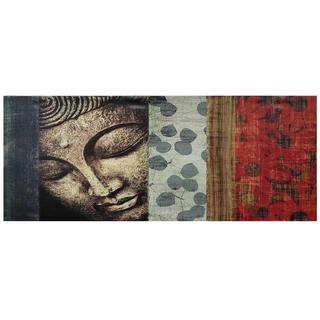 Peaking Buddha Statue Canvas Wall Art