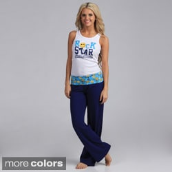 "Stanzino Women's ""Smiley Rockstar"" Loungewear Set"