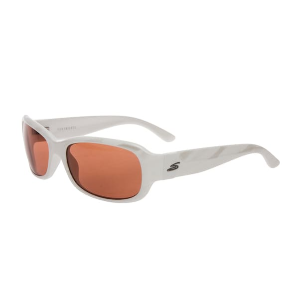 Serengeti Women's 'Chloe' Silvertone Zebra Sunglasses