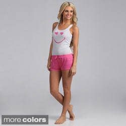 Stanzino Women's Smiley Top and Shorts Sleepwear Set