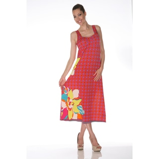 White Mark 'Tuscana' Fuchsia and Yellow Maxi Dress