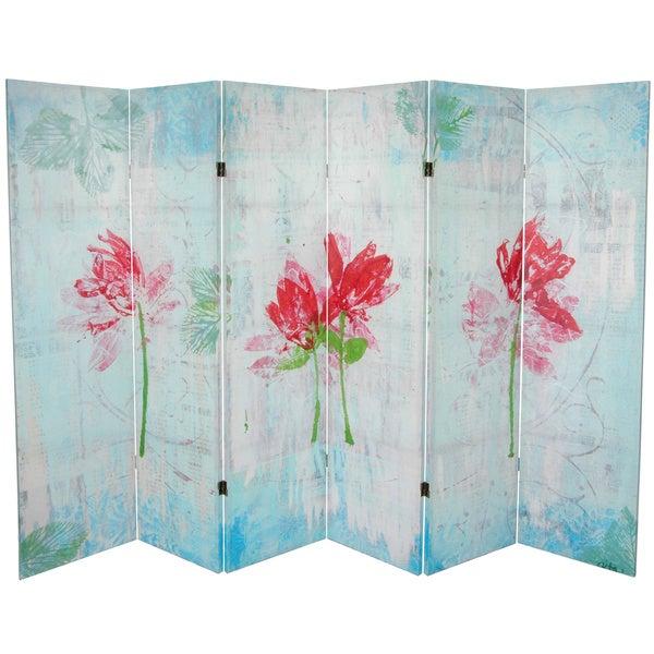 Spring Morning 5.25-foot Tall Canvas Room Divider (China)
